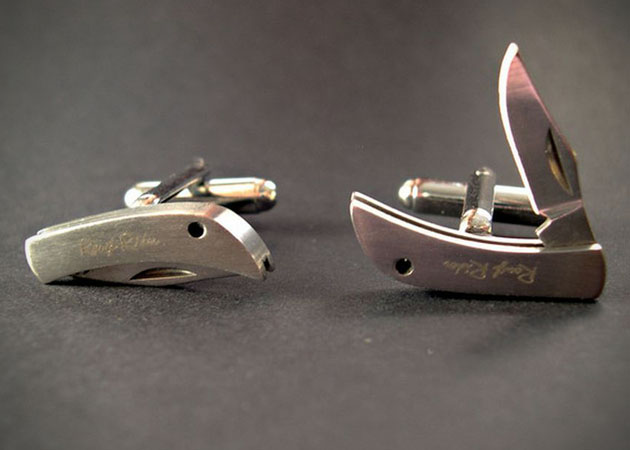 Pocket Knife Cufflinks (2)