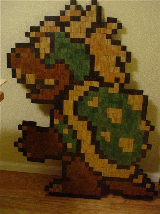 8-Bit Wooden Super Mario Bros Characters (1)