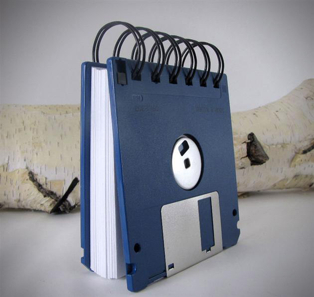 Recycled Floppy Disk Notebooks (3)