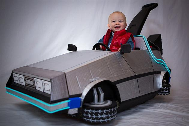 Back To The Future DeLorean Halloween Costume (2)