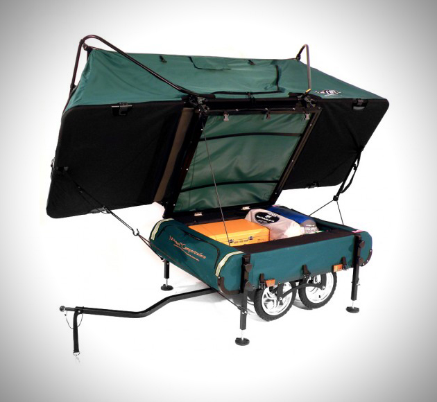 World S Smallest Bike Trailer Pop Up Tent By Kamp Rite