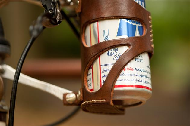 Leather Bicycle Can Cage (3)