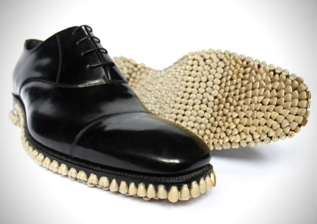 Gold Fronts: Oxford Dress Shoes with Teeth Soles (3)