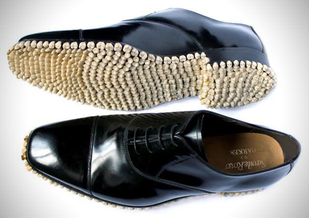Gold Fronts: Oxford Dress Shoes with Teeth Soles (2)