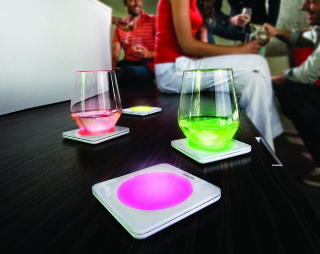 Philips Color Changing LED Drink Coasters (3)