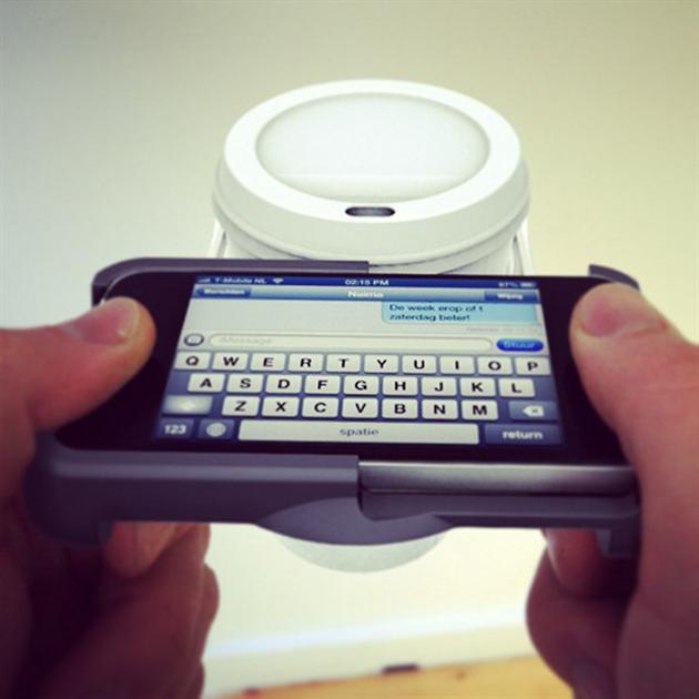 UpperCup iPhone Cup Holder Case (2)