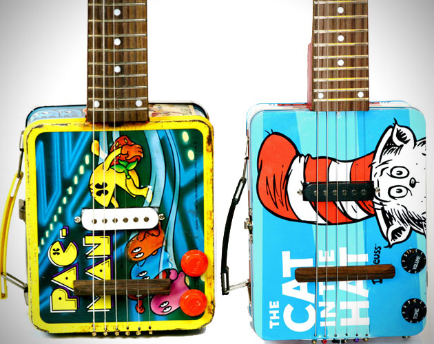 Bohemian Recycled Oil Can Guitars