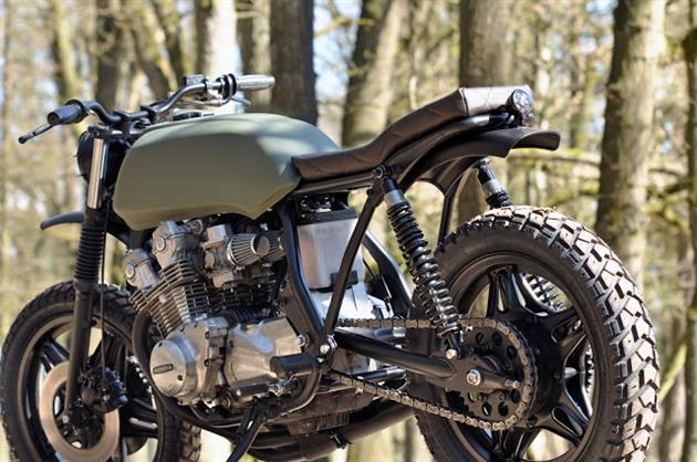 Military Inspired Honda CB750 Scrambler By Left Hand Cycles 2