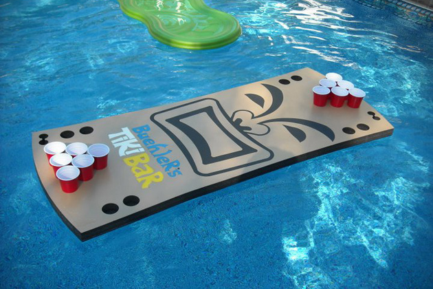 Floating Beer Pong Tiki Table