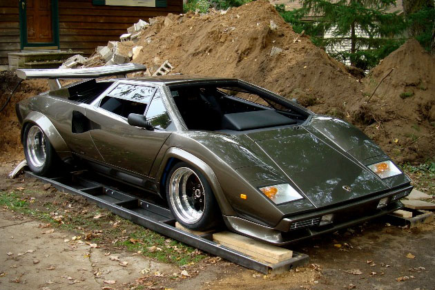 Lamborghini Countach Built In Mans Basement