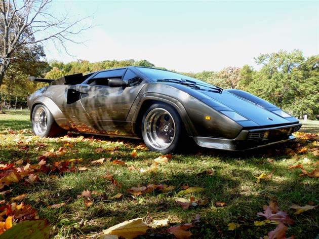 Lamborghini Countach Built In Mans Basement 14