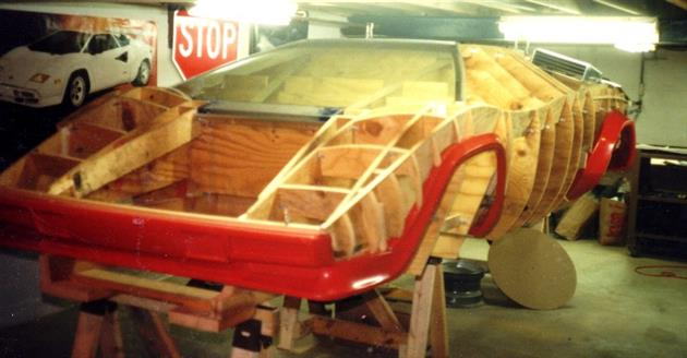 Lamborghini Countach Built In Mans Basement 4
