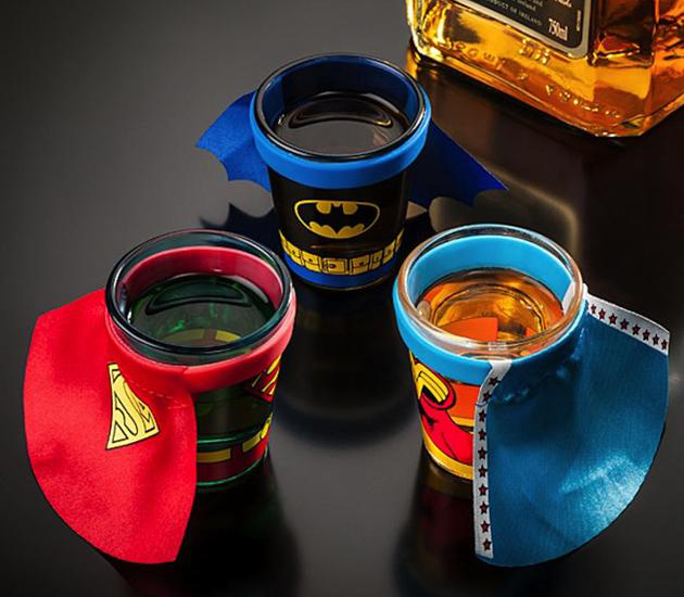 DC Comics Caped Superhero Shot Glasses