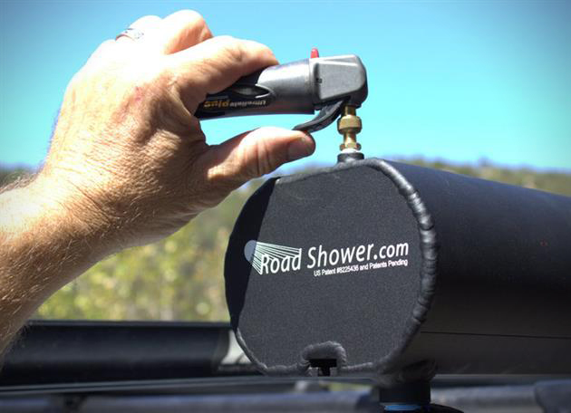 Road Shower Rack Mounted Solar Powered Shower Hiconsumption
