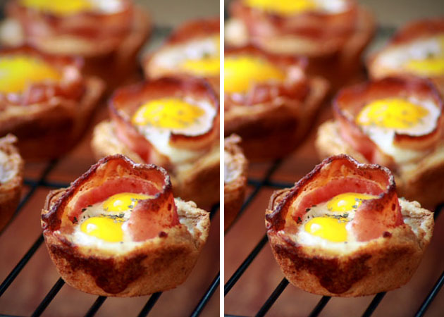 Bacon Egg Toast Cups