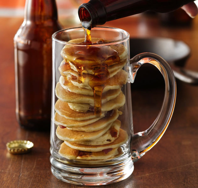 Beer Bacon Mancakes