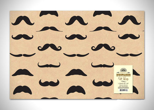 Mustache Wrapping Paper