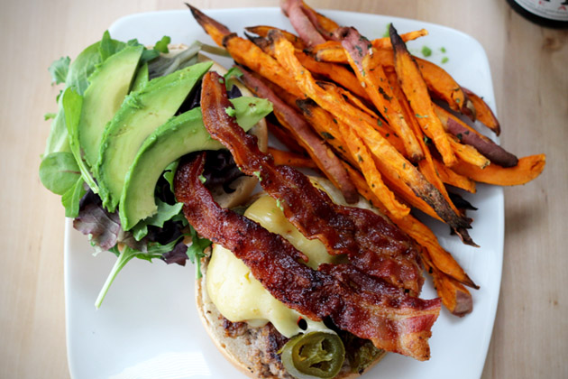 Spicy Jalapeno Bacon IPA Burger