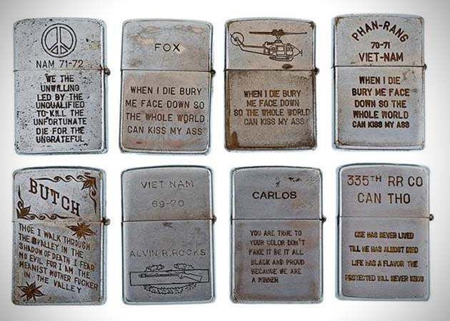 Vietnam War Era Engraved Zippo Lighters Hiconsumption