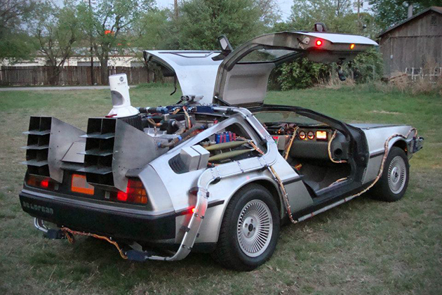 custom built back to the future delorean for sale hiconsumption. Black Bedroom Furniture Sets. Home Design Ideas