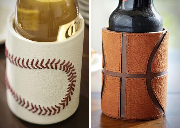 Baseball Basketball Leather Bottle Cooler