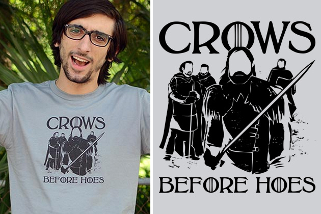 Crows Before Hoes T-Shirt 0