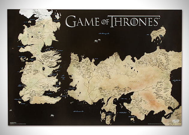 Game of Thrones Poster Full World Map