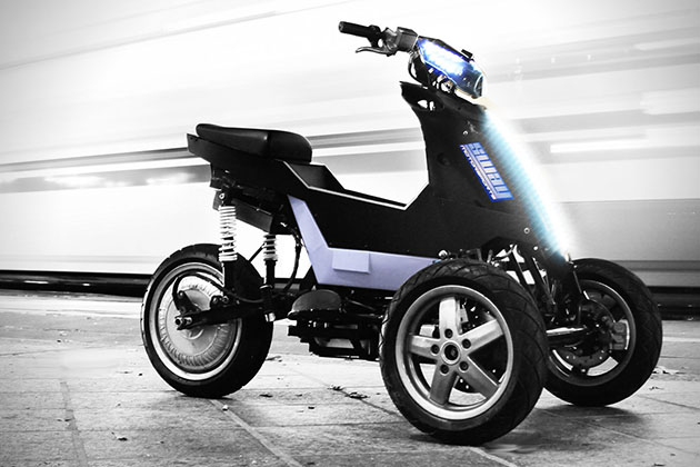 Sway Motorsports Leaning Electric Three-Wheeler 2