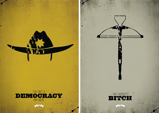 The Walking Dead Minimalist Character Prints 1