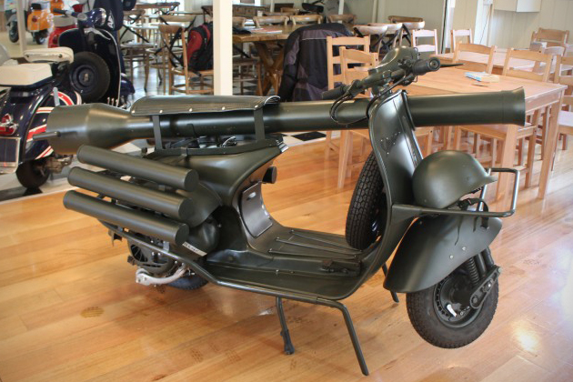 Vespa 150 TAP Scooter With Light Anti-Armor Cannon