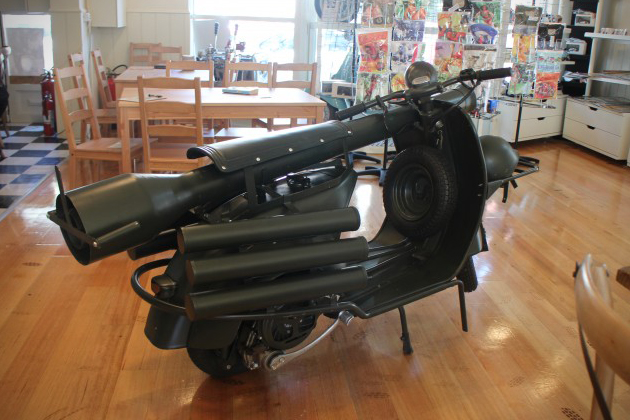 Vespa 150 TAP Scooter With Light Anti-Armor Cannon 3