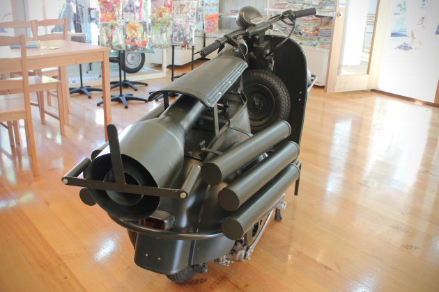 Vespa 150 TAP Scooter With Light Anti-Armor Cannon 4