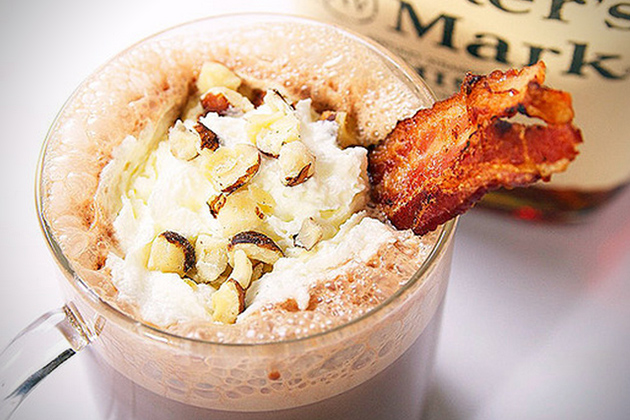 Bacon Bourbon and Hazelnut Hot Chocolate