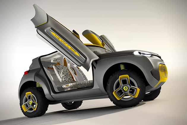 Renault Kwid Concept with Traffic Checking Drone 4