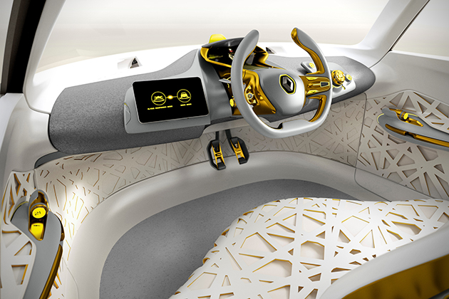 Renault Kwid Concept with Traffic Checking Drone 6