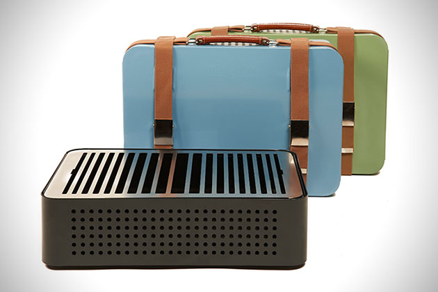 Mon Oncle Portable Briefcase Grill 2