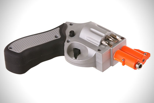Revolver Shaped Rechargeable Screwdriver 3