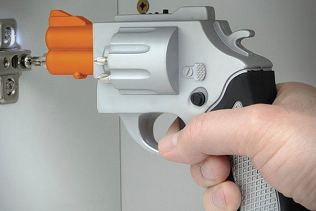 Revolver Shaped Rechargeable Screwdriver 6