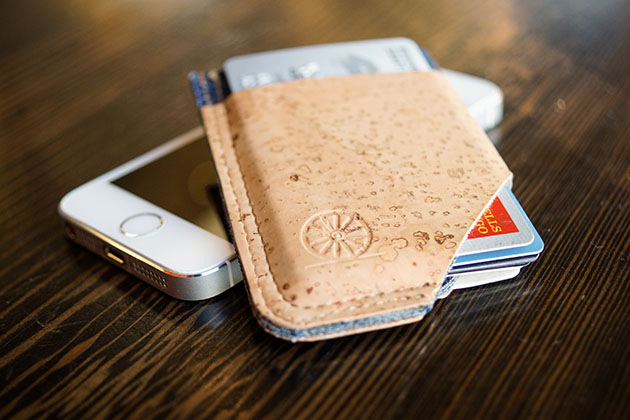 The SLIDE Cork Wallet by Stitch and Locke 3
