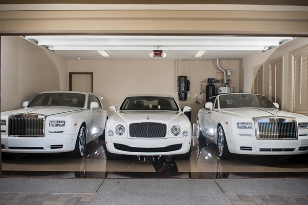 Floyd Mayweathers White Car Collection 4