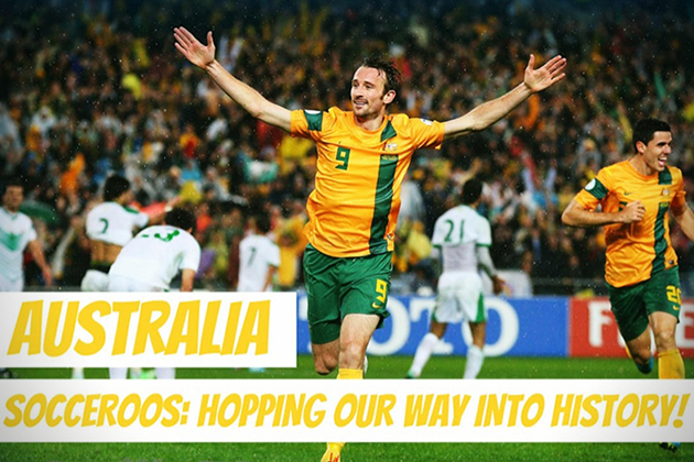 Australia Socceroos- Hopping our way into history