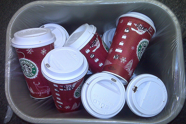 Empty Starbucks Cups