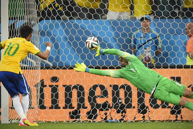 World Cup Soccer Penalty Shot