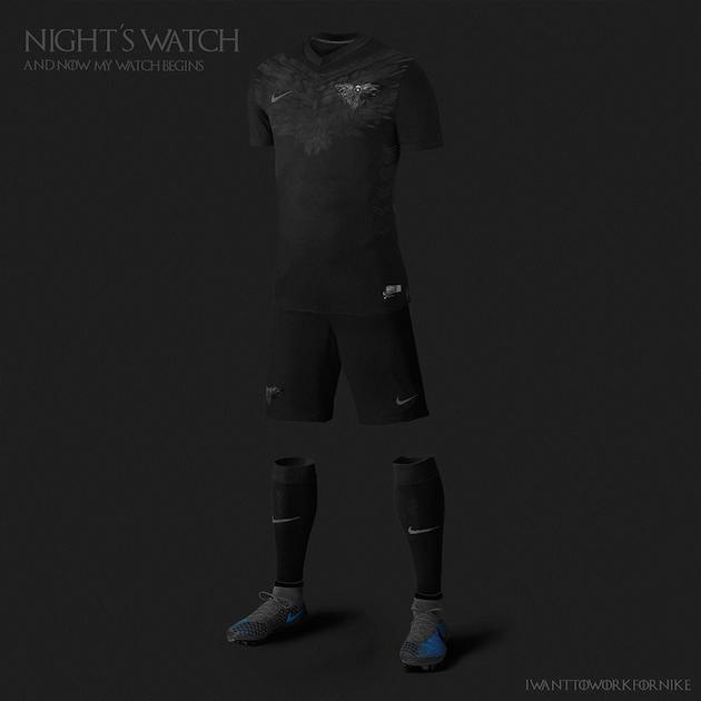 Game of Thrones Nike World Cup Kits 2