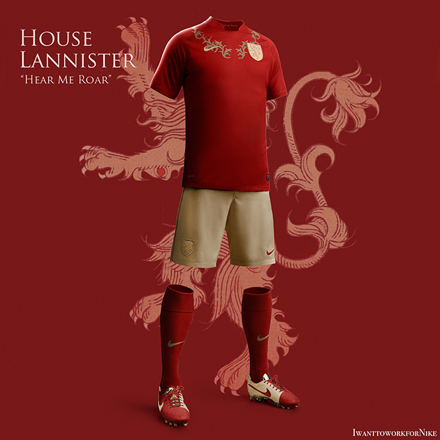 Game of Thrones Nike World Cup Kits 7