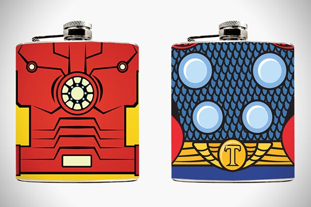 Superhero Hip Flasks 2