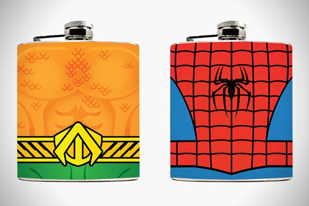 Superhero Hip Flasks 3