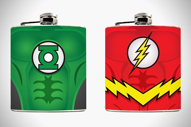 Superhero Hip Flasks 4