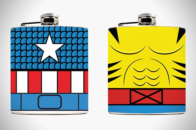 Superhero Hip Flasks 5