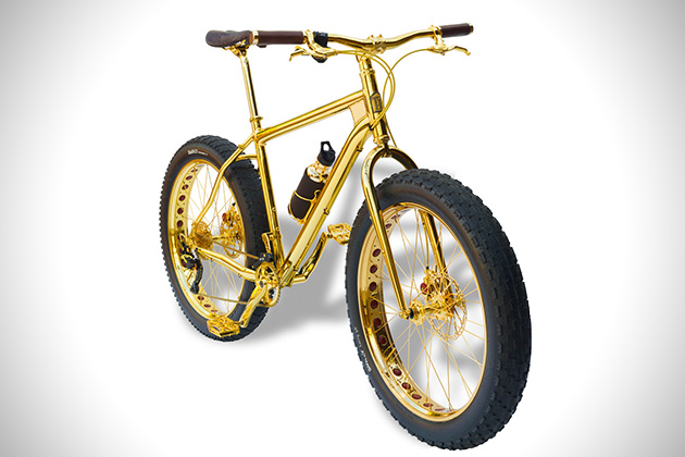 24K Solid Gold Mountain Bike 2